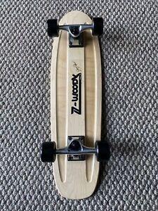 "Old School 70s Skateboard 29""X 8"" NOS Wood Deck & Z Woody Decal Z Flex Wheels"