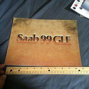 1973 1974 SAAB 99 GLE Special Edition Color Brochure Catalog Prospekt