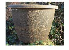 2 X Large Wood Grian Planter Pots Garden Patio Indoor Outdoor Flower Herb Pot