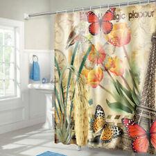 "71""x71"" Fabric Bathroom Shower Curtain Set 3D Printed Waterproof w/ 12 Hooks US"