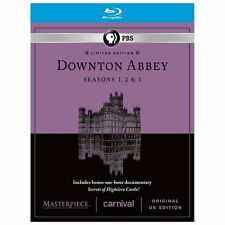 NEW Masterpiece: Downton Abbey - Seasons 1-3 + Bonus Disc (9 Bluray Discs 2013)