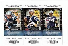 2013 NEW ENGLAND PATRIOTS SEASON TICKET STUB SET 10 TICKETS TOM BRADY GRONKOWSKI