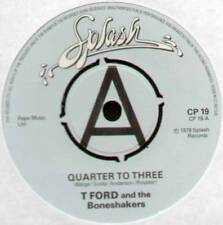 "T FORD & THE BONESHAKERS ~ QUARTER TO THREE / PINK CADILLAC ~ 1978 UK ""PROMO"" 7"""