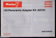 MAMIYA 7II/7 PANORAMIC ADAPTER KIT INSTRUCTION (ORIGINAL PRINT JAPAN/not copies)