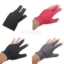3x Billiard Snooker Glove Pool Cue Left Hand Glove 3 Finger Glove Accessory