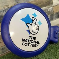 THE NATIONAL LOTTERY Original Large Wall Mountable Lotto Sign - Man Cave Pub Bar