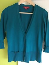 Lovely monsoon cardigan 10 - Teal With Button Details