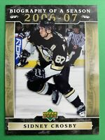 2006-07 Upper Deck Biography Of A Season #BOS9 Sidney Crosby Pittsburgh Penguins