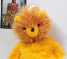 Peluche doudou lion range-pyjama vintage 1970