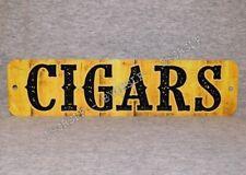 Metal Sign Cigars tobacco smoker cigar smoke shop smoking club yellow tobacciana