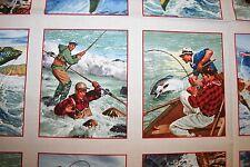 "FISH FABRIC ""SPORTS AFIELD"" FISHING FABRIC! TROUT, NORTHERN PIKE, WALLEYE, BASS"