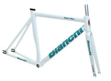 Bianchi Super Pista Frameset Satin White 61cm Track Frame Carbon Fork NEW in Box