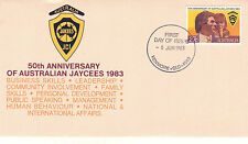 Australia 8 June 1983 50th Ann Of Australian Jaycees Official First Day Cover Sh