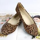 Femme Ballerines Léopard Chaussure plate faux suède chaussure de ballet faible