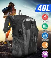 40L Large Waterproof Hiking Camping Bag Travel Backpack Outdoor Luggage  √