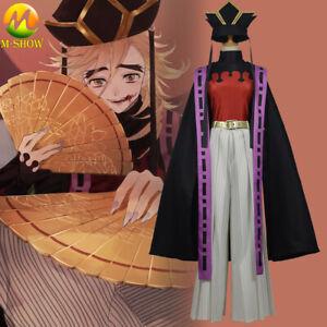 Demon Slayer Kimetsu no Yaiba Cosplay Costume Upper Moon Two Douma Kimono Suit