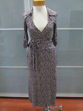 SABA Viscose Rayon 3/4 Sleeve Maxi Wrap Dress Sz 8