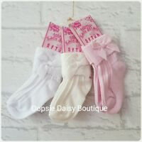 Baby Girls Gorgeous Ribbon Bow Ankle Socks- 3/6mth 6/12mth 12/18mth 18/24mths