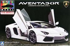 Aoshima 1/24 Model Car Kit Lamborghini Aventador LP700-4 Bianco Canopus White
