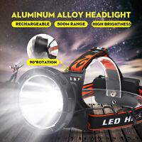 Outdoor LED Headlamp Rechargeable Headlight Flashlight Head Torch 18650 IPX65