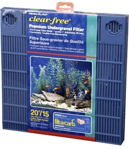 Penn Plax Premium Under Gravel Filter System for 20 Gallon Fish Tanks & Aquarium
