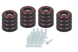 16 x Teflongleiter zum Schrauben 22 mm Stuhlgleiter braun PTFE Möbelgleiter