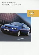 Prospekt 2003 Opel Astra Coupé Coupe Edition 90 Jahre Bertone 4 03 Auto Pkw