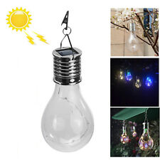 Outdoor Hanging Solar LED Lights Waterproof Rotatable Bulb Garden Camping Lamps