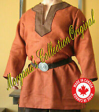 Medieval Celtic Viking Long Sleeves Norman Shirt with Collar Deluxe