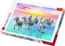 Trefl 500 piezas adulto GRANDES galloping blanco caballos amanecer