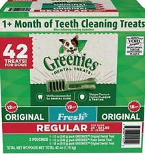 New listing Greenies Regular Dental Treats Variety Pack for Dogs Net Wt 42 Oz