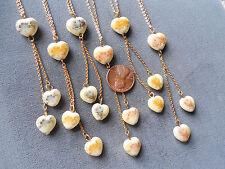 Vintage lot new old stock 6 pretty lavalier floral flower necklaces Japan JE16