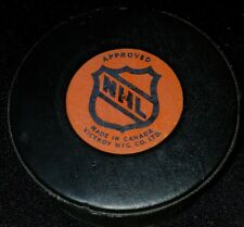 OFFICIAL GAME PUCK NHL USED VICEROY CANADA WINNIPEG JETS made in CANADA hole!