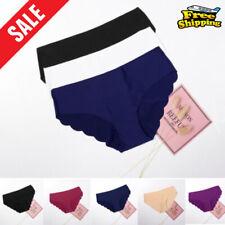 3Pcs Women Seamless Soft Ultra Thin Briefs Panties Hipster Underwear Lingerie HA