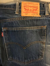 """Levis 501 W44 L32 Button Fly V Jeans Single Stitch Red Tab Actual Inseam 30.5"""""""
