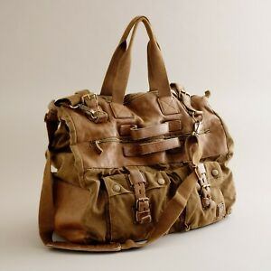 Belstaff Iconic Colonial Travel Bag Large Leather Canvas