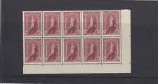Australie 1937-49 5s Claret - Bloc de 10 -sg176-unmounted Excellent État