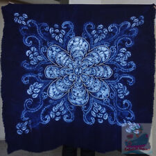Handmade indigo Tie Dye Rural Style Tablecloth Table Cover Tapestry 110cmx110cm