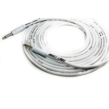 Bullet Thunder Audio Studio Cable Straight Dual Shielding White (20 ft)