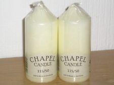 Pack of 2 Wenzel Chapel / Church / Pillar Candles / Wedding115mm tall x50mm diam