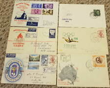 6 Old Olympiad FDC's, 1948 Great Britain, 1956 Melbourne Australia