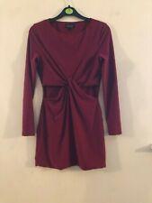 Topshop burgundy mini dress size 10