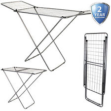 18M Winged Clothes Airer Laundry Clothing Dryer Rack Folding Washing Line Indoor