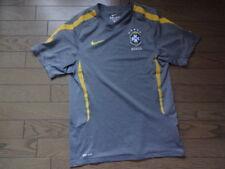 Brazil 100% Original Soccer Football Training Jersey Shirt S USED Good Condition