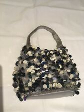Suzy Smith Embellished Beaded/discs Evening Bag. Silver. Fabulous.