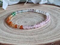HORMONE BALANCING, PCOS  - CRYSTAL HEALING GEMSTONE BRACELET 4mm beads