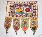 Handmade Kutchi Banjara Antique Door Valance Hand Embroidery Beautiful Tapestry