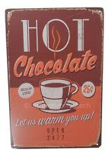 Hot Chocolate Funny Tin Sign Bar Pub Garage Home Art Wall Decor Poster Retro New