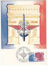 CARTE MAXIMUM FDC 1976 TIMBRE N° 1890 CENTENAIRE  CORPS DES OFFICIERS DE RESERVE