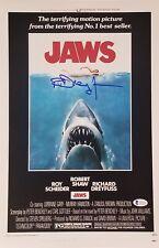Richard Dreyfuss Signed 11x17 Jaws Movie Poster Photo Bas Coa Matt Hooper Auto